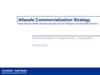 Creating Companies | Creating Wealth | Creating Jobs October 2012