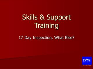 Skills  Support Training