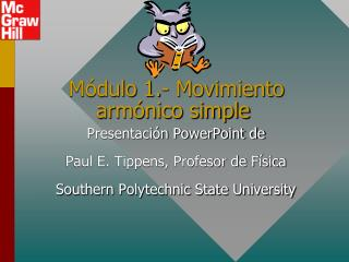 Módulo 1.- Movimiento  armónico simple