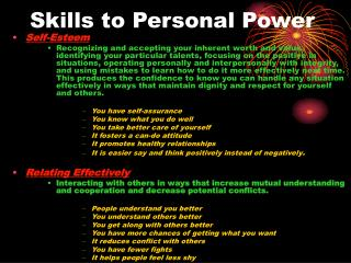 Skills to Personal Power