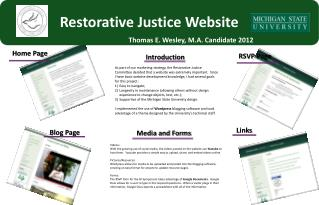 Restorative Justice Website