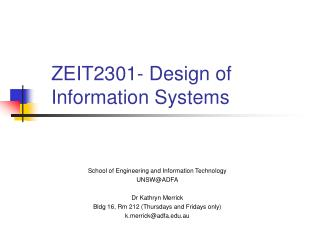 ZEIT2301- Design of  Information Systems