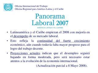 Oficina Internacional del Trabajo Oficina Regional para América Latina y el Caribe