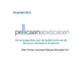 24 januari 2013 De consequenties voor de trustbranche van de flex-bv en wet bestuur & toezicht