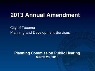 2013 Annual Amendment