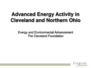 Advanced Energy Activity in Cleveland and Northern Ohio