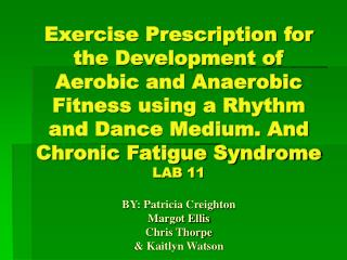 PART 1       Chronic Fatigue Syndrome