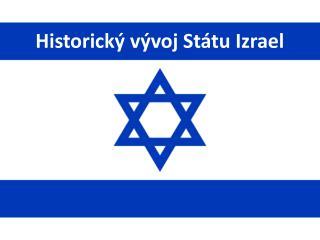 Historický vývoj Státu Izrael
