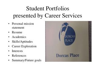 Student Portfolios presented by Career Services