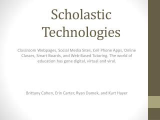 Scholastic Technologies