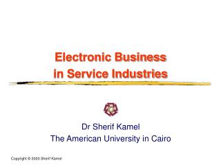 Electronic Business  in Service Industries
