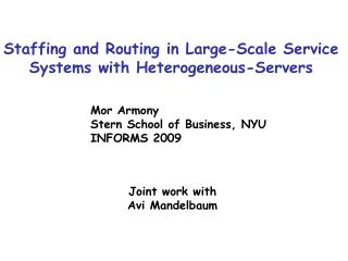 Staffing and Routing in Large-Scale Service Systems with Heterogeneous-Servers