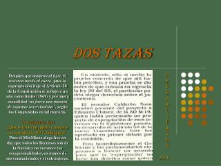 DOS TAZAS