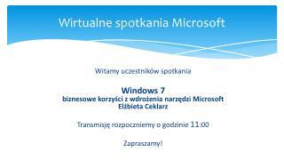 Wirtualne spotkania Microsoft