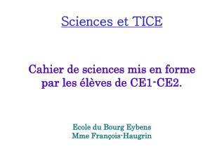 Sciences et TICE