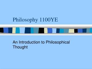 Philosophy 1100YE