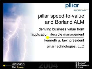 pillar speed-to-value and Borland ALM