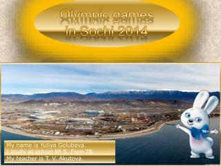 Olympic  games  in  Sochi  2014