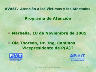 AVAST.  Atención a las Víctimas y los Afectados