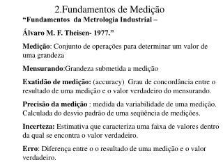 2.Fundamentos de Medição