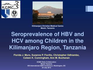 Seroprevalence  of HBV and HCV among Children in the Kilimanjaro Region, Tanzania