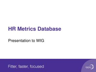 HR Metrics Database