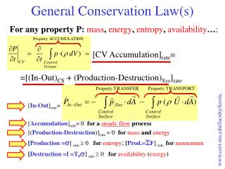 General Conservation Law(s)