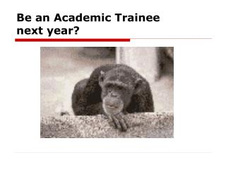 Be an Academic Trainee next year?