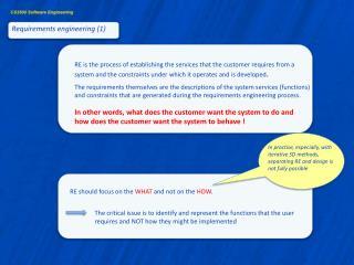 Requirements engineering (1)
