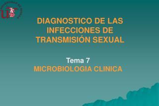 DIAGNOSTICO DE LAS INFECCIONES DE TRANSMISI�N SEXUAL
