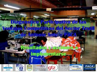 ¿Qué es el diagnóstico PACA para el Sector Textil de Antonio Ante?