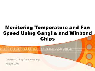 Monitoring Temperature and Fan Speed Using Ganglia and Winbond Chips