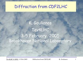 Diffraction from CDF2LHC