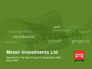 Metair Investments Ltd