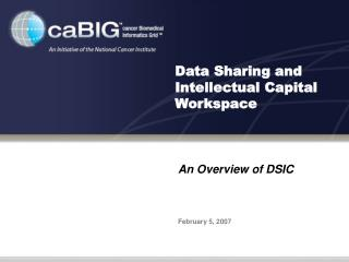 Data Sharing and Intellectual Capital  Workspace