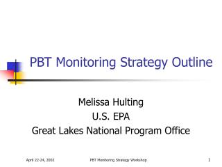 PBT Monitoring Strategy Outline
