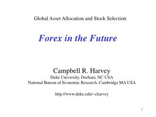 Forex in the Future