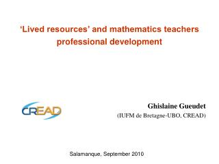 'Lived resources' and mathematics teachers professional development