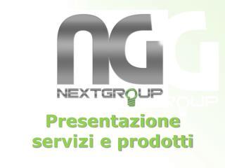 Presentazione s ervizi e prodotti