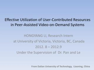 Effective Utilization of User-Contributed Resources in Peer-Assisted Video-on-Demand Systems