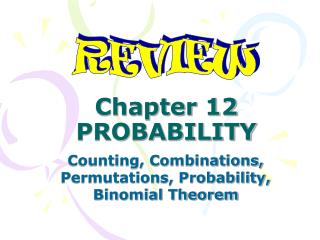 Chapter 12 PROBABILITY