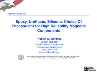 Epoxy, Urethane, Silicone: Choice Of Encapsulant for High Reliability Magnetic Components