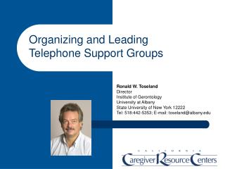 Organizing and Leading Telephone Support Groups