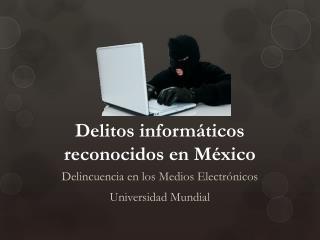 Delitos informáticos reconocidos en México
