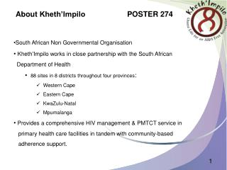 About  Kheth'Impilo                     POSTER 274