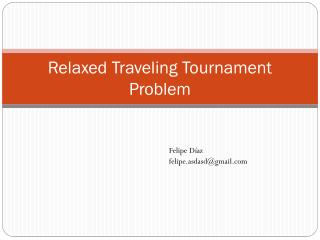 Relaxed Traveling Tournament Problem