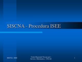 SISCNA - Procedura ISEE