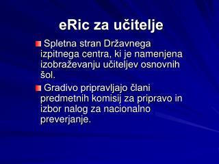 eRic za učitelje