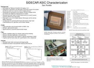 SIDECAR ASIC Characterization Dan Pontillo