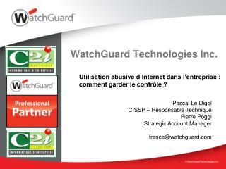 WatchGuard Technologies Inc.